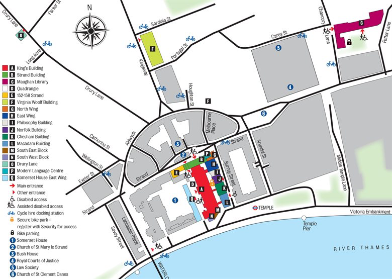 Strand Campus map
