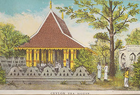 Frontispiece of a Ceylon tea house. From: Official handbook and catalogue of the Ceylon Court, 1886 [FCO Historical Collection T696.G1 COL]