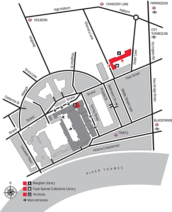 Archives & Special Collections location map