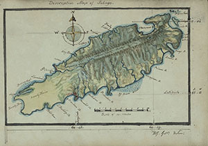 Map of Tobago. From Sir William Young, An essay on the commercial and political importance of ye island of Tabago, 1810