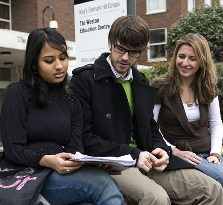 Students outside Weston Education Centre