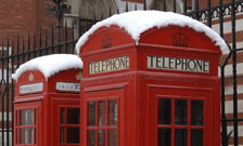 Picture of telephone boxes