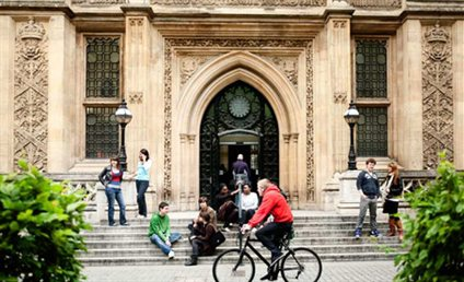 Image of the main entrance to the Maughan Library