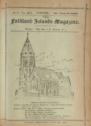 Cover page of 'The Falkland Islands Magazine' featuring Christ Church Catherdal