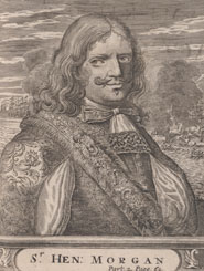 Portrait of Henry Morgan. From 'Bucaniers of America' by Alexandre Olivier Exquemelin (1684-5)