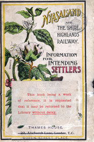 Front cover of 'Nyasaland and the Shir Highlands railway', depicting a coffee bush (1913)