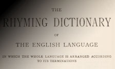 Detail from title page of Walker's rhyming dictionary.