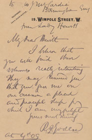 Inscription to Frederic William Hewitt from Rickman John Godlee