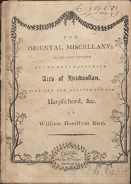 Title page of The oriental miscellany (Calcutta, 1789)