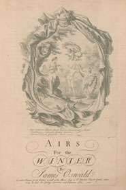 Title page from 'Airs for the winter' by James Oswald