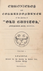 Title page of 'Chronicles and correspondence of the society of