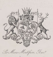 Bookplate of Sir Moses Montefiore (1784-1885)