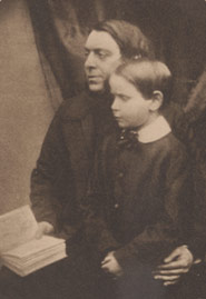 Portrait of Philip Henry and his young son, Edmund Gosse