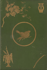 Front cover showing green cloth binding with gilt-tooled decorative designs