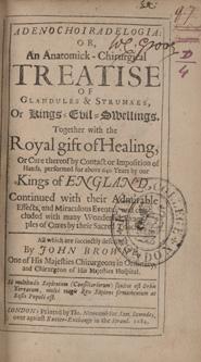 Title page of: John Browne. Adenochoiradelogia, 1684