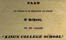 Prospectus for King's College School, Nassau, Bahamas 1830s