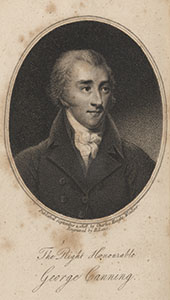 Frontispiece portrait of George Canning. From: George Canning. The Microcosm, 1809