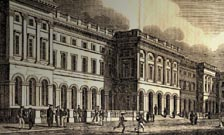 1833 engraving of new Smirke building at King's College London