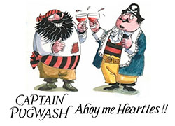 Cartoon showing Captain Pugwash and another sailor. By John Ryan