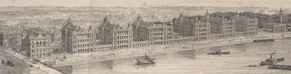 View of St. Thomas's Hospital, London. Henry Curey, Transcript of a paper ..., 1871