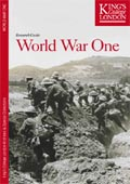 Image of the cover of the LHCMA and Special Collections joint research guide to World War One