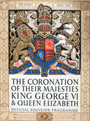 Cover of the official souvenir programme for the coronation of George VI in 1937.