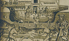 Noah overseeing the construction of his Ark. From: Hartmann Schedel. Liber chronicarum, 1493