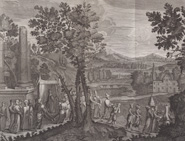 A plate engraved by Bernard Picart depicting a Turkish marriage procession.