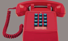 contact us red telephone