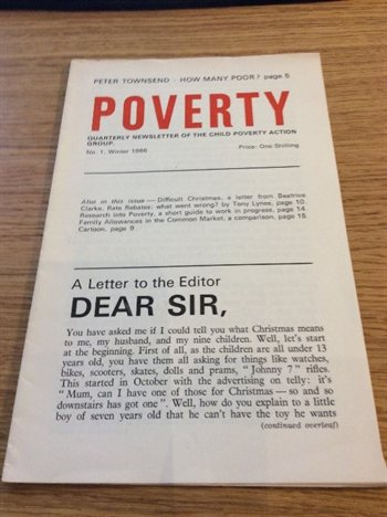 Edition of Poverty journal