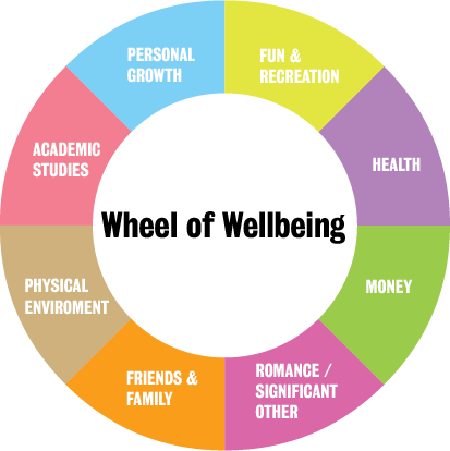 Image result for mental health and wellbeing wheel