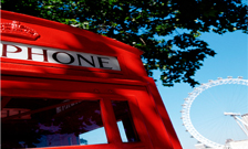 Red telephone boxes and london eye
