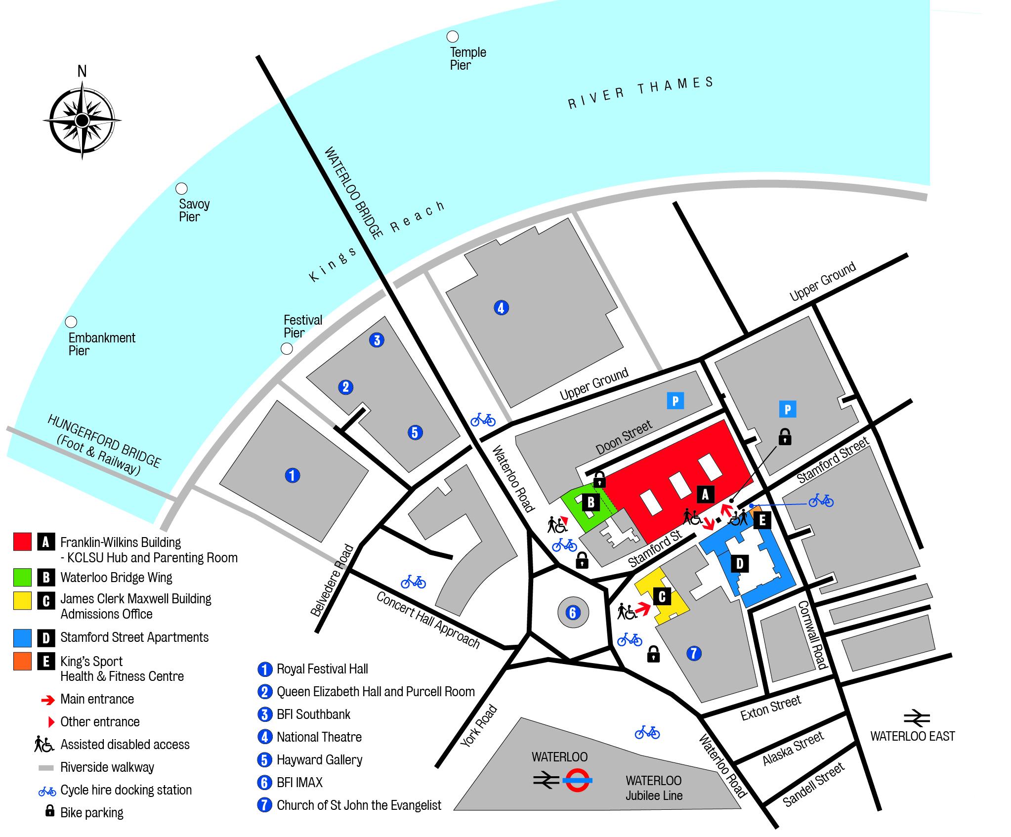 Map waterloo london Hotel in
