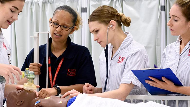 Children's nursing students at King's College London