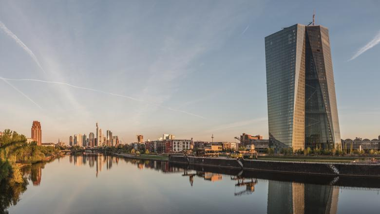 Seat_of_the_European_Central_Bank_and_Frankfurt_Skyline_at_dawn_20150422_1