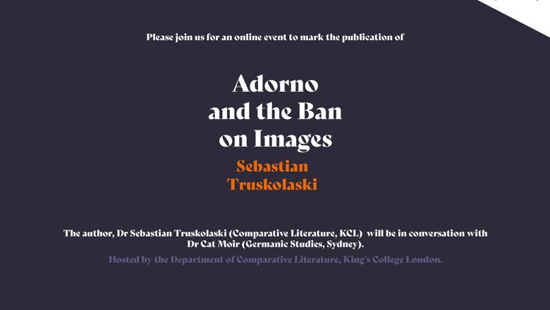 Adorno and the Ban on Images Book Launch