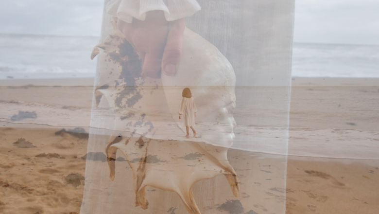 Engaging memory project image of a woman at the beach