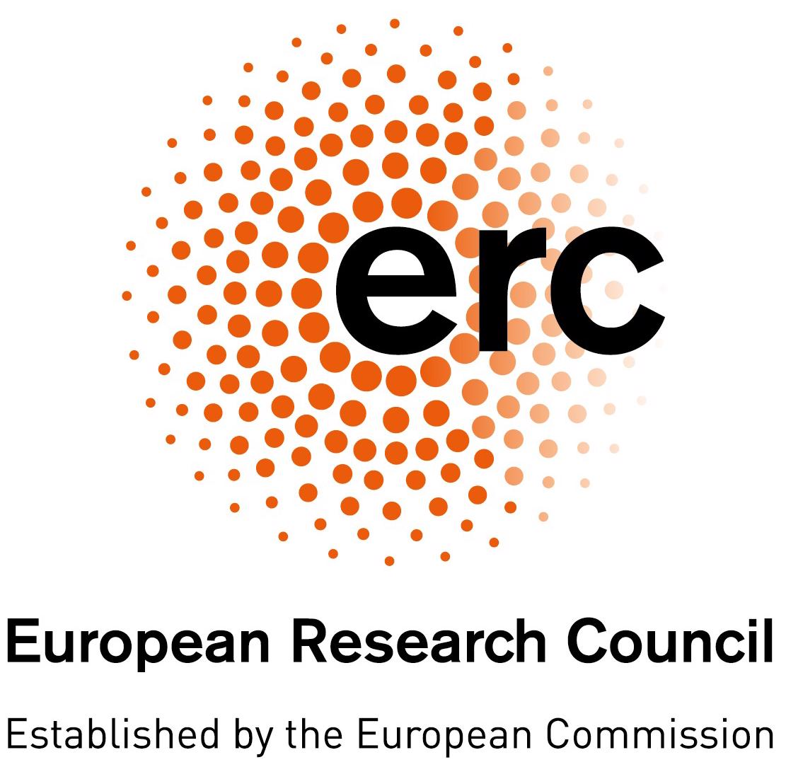 ERC, European Research Council, established by the European Comission logo