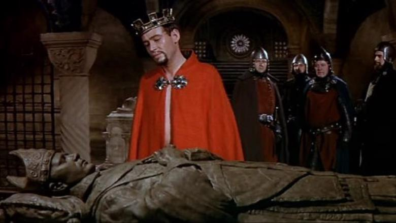 Glenville Becket. King and his men at the death bed of another man.