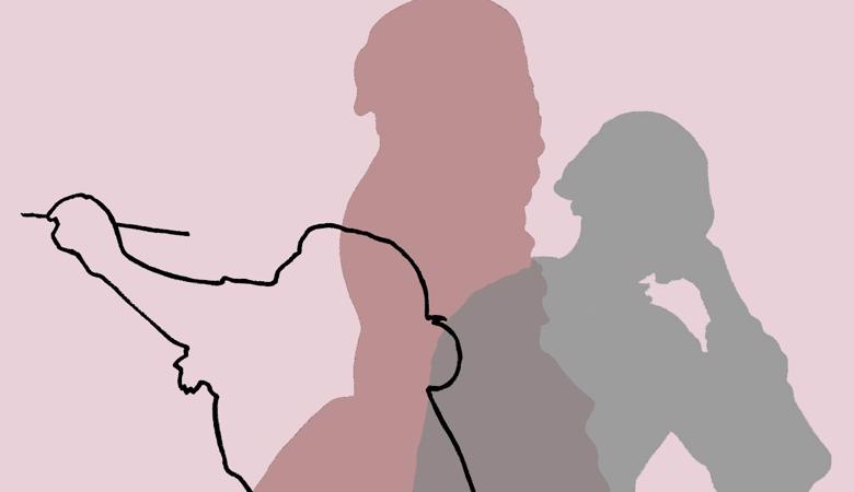 image of three silhouetted women