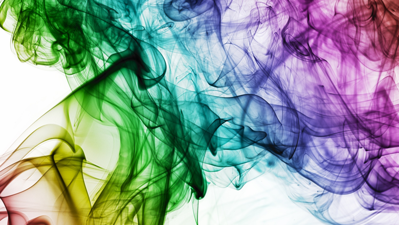 multicoloured smoke