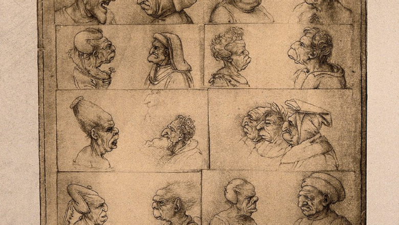 24 grotesque heads