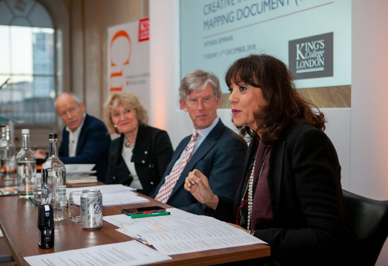 (Left to right) John Newbigin, Janice Hughes, Ian Hargreaves and Gail Rebuck