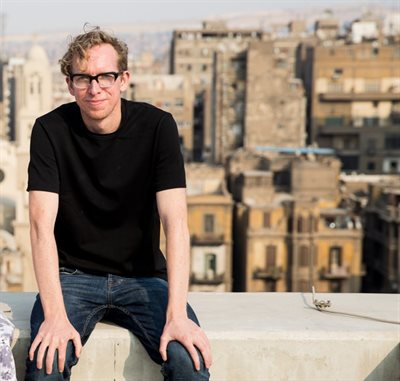Andy Field (English postgraduate student) photographed by Mostafa Abdel Aty