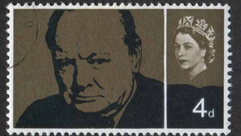 Winston Churchill stamp (shutterstock)