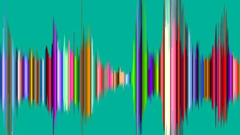 Multi-coloured sound wave