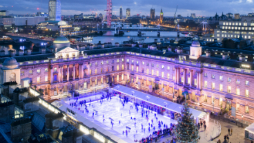 Somerset House ice rink at night