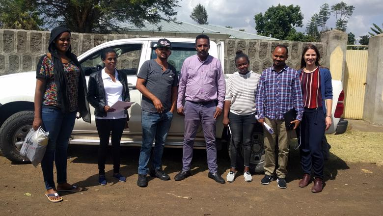 GLAD Lab fieldwork team pilot in Ethiopia
