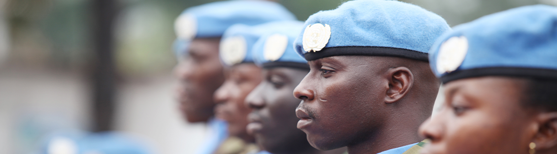 UN Peacekeepers celebrating Peacekeepers Day in DRC