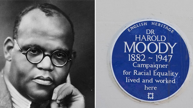 Harold Moody and blue plaque